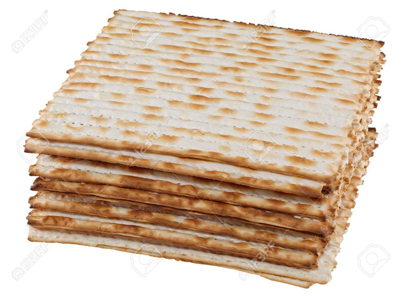 Matzo (or matzah) is bread traditionally eaten by Jews during the week-long Passover holiday Stock Photo - 17936467