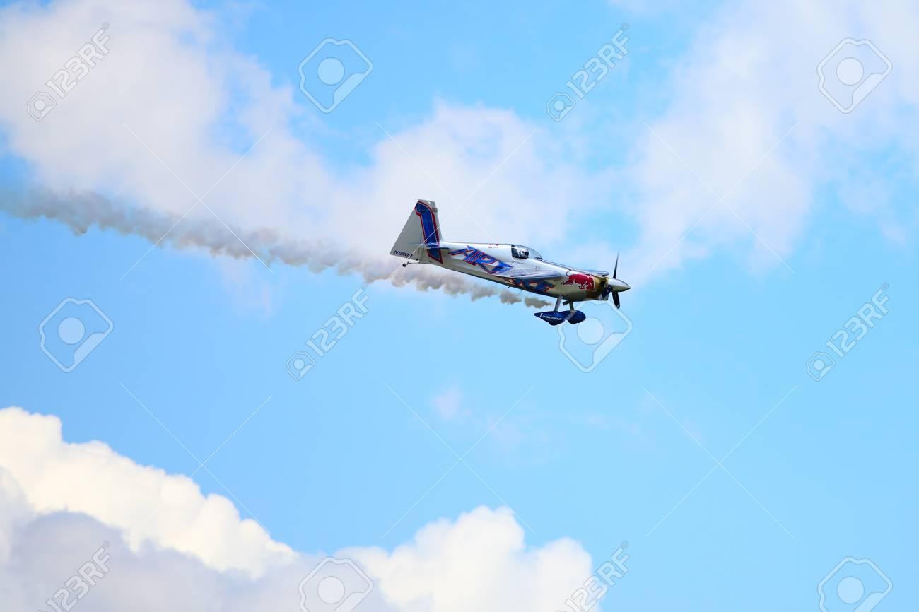 BUDAPEST, HUNGARY - JUNE 23, 2018: Red Bull Air Race World Championship