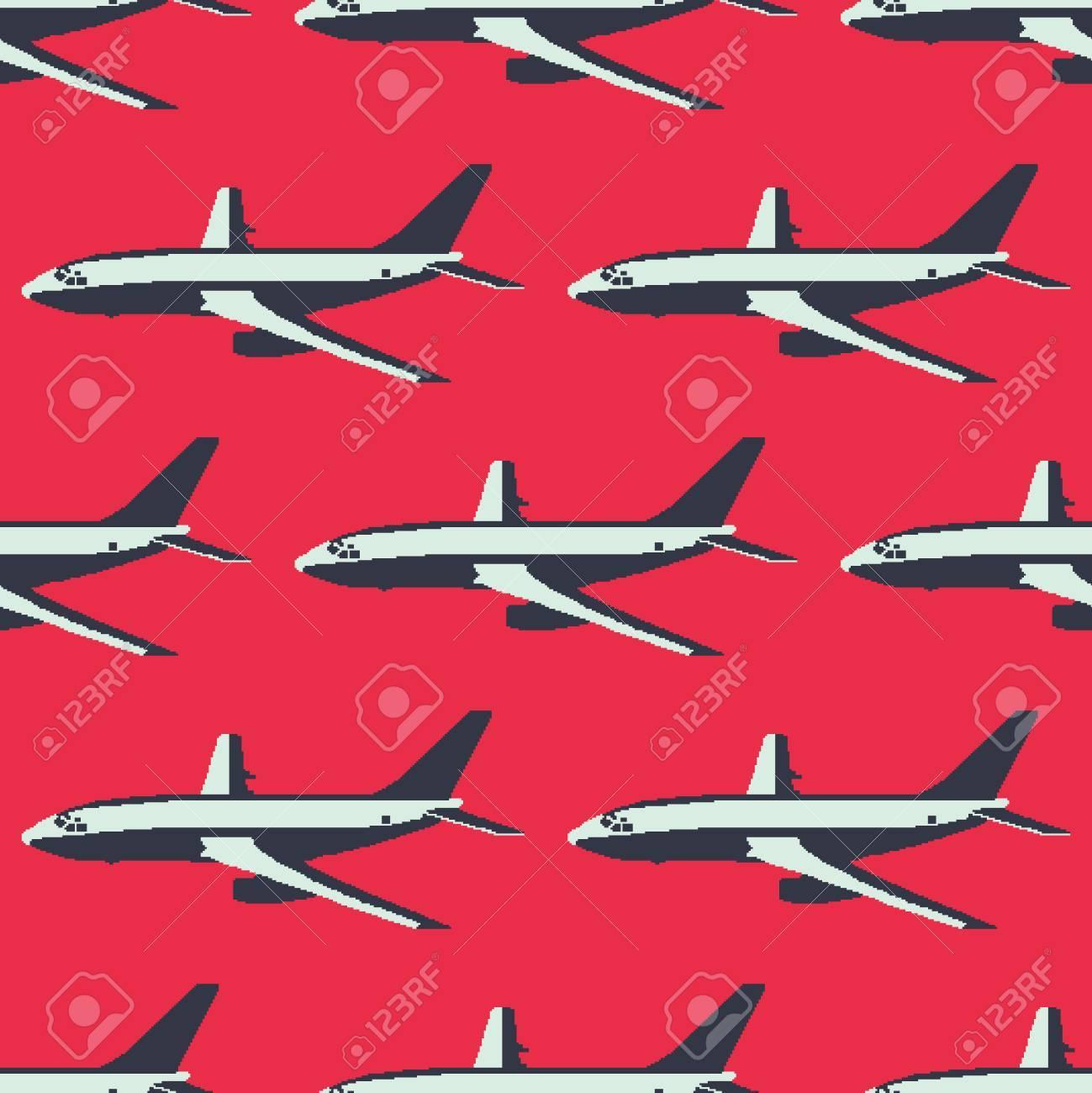 Patrón Transparente De Color De Avión De Pasajeros Ilustraciones ...