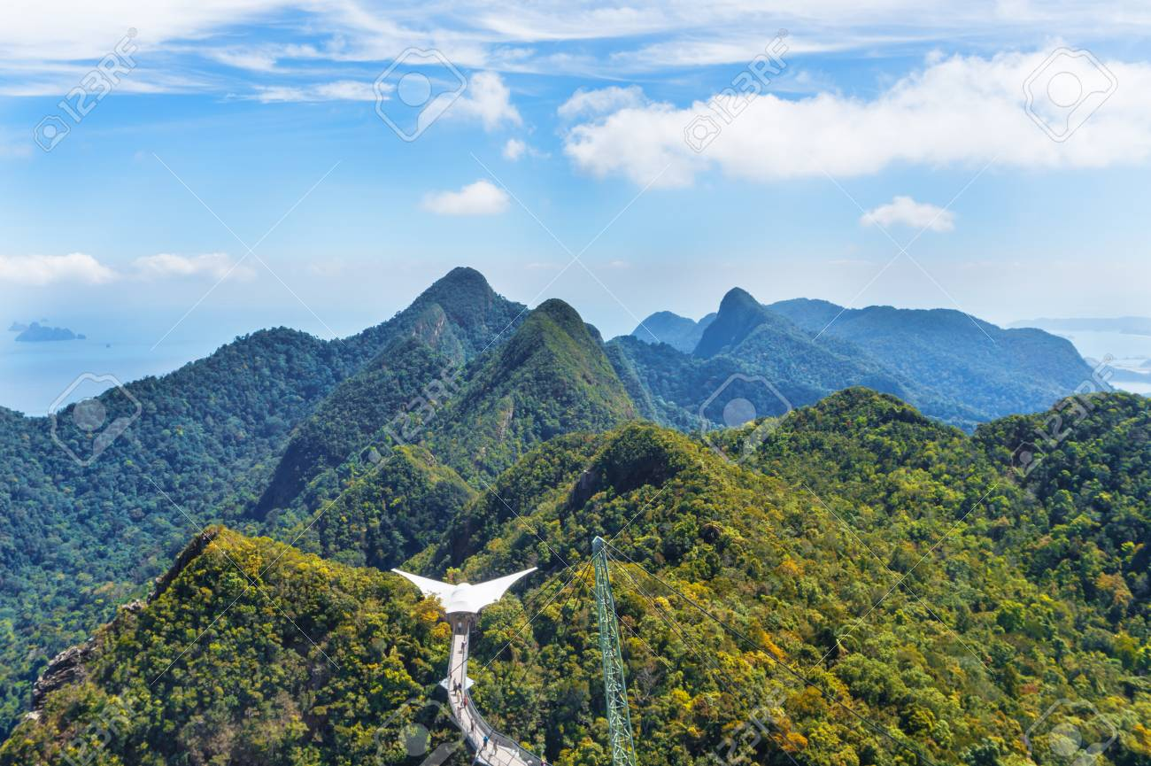 Mountain View From The Top Of Langkawi Malaysia Stock Photo