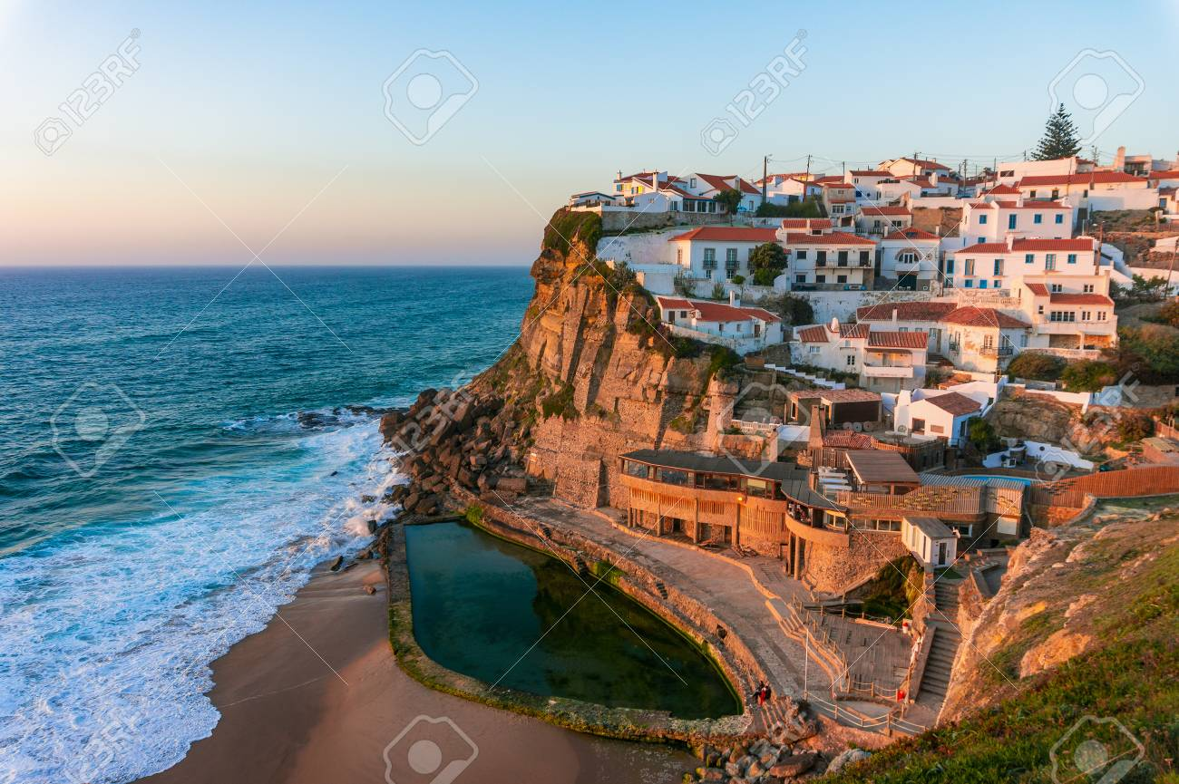Portugal Beach Town at Sunset
