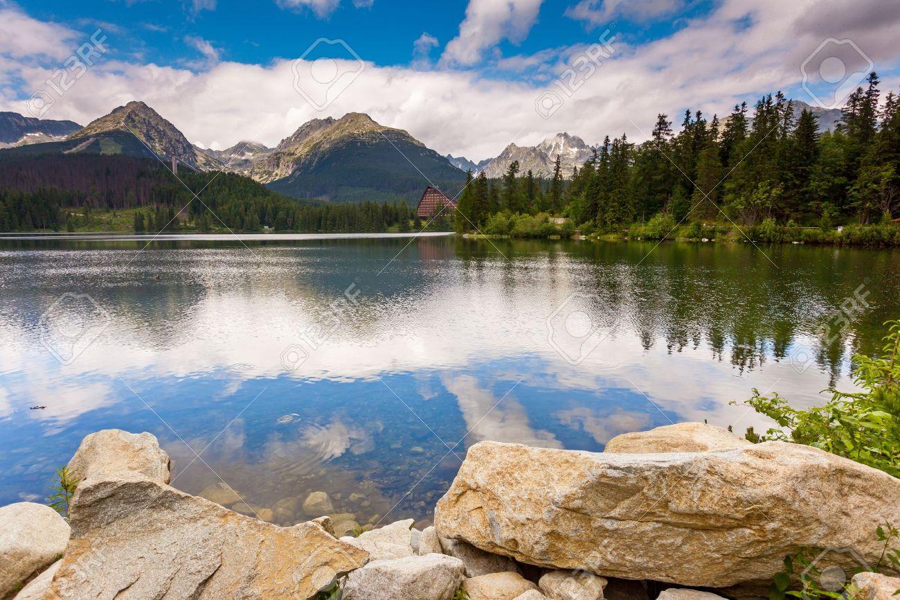 Mountain lake in National Park High Tatra. Strbske pleso, Slovakia, Europe. Beauty world. - 21301602
