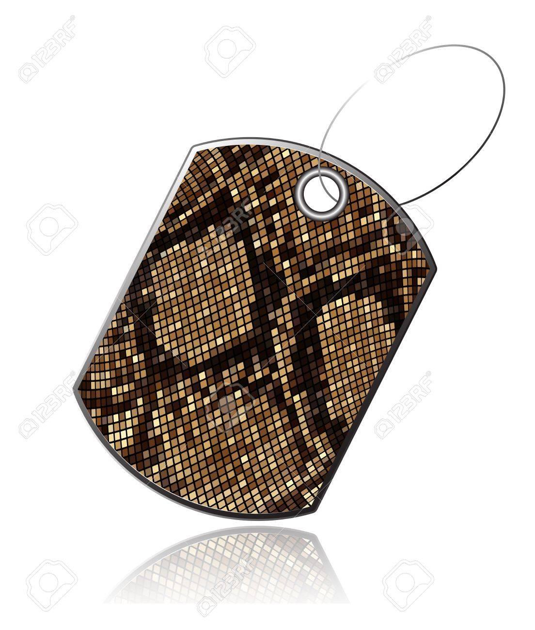 Tag of snake skin Stock Vector - 16765701