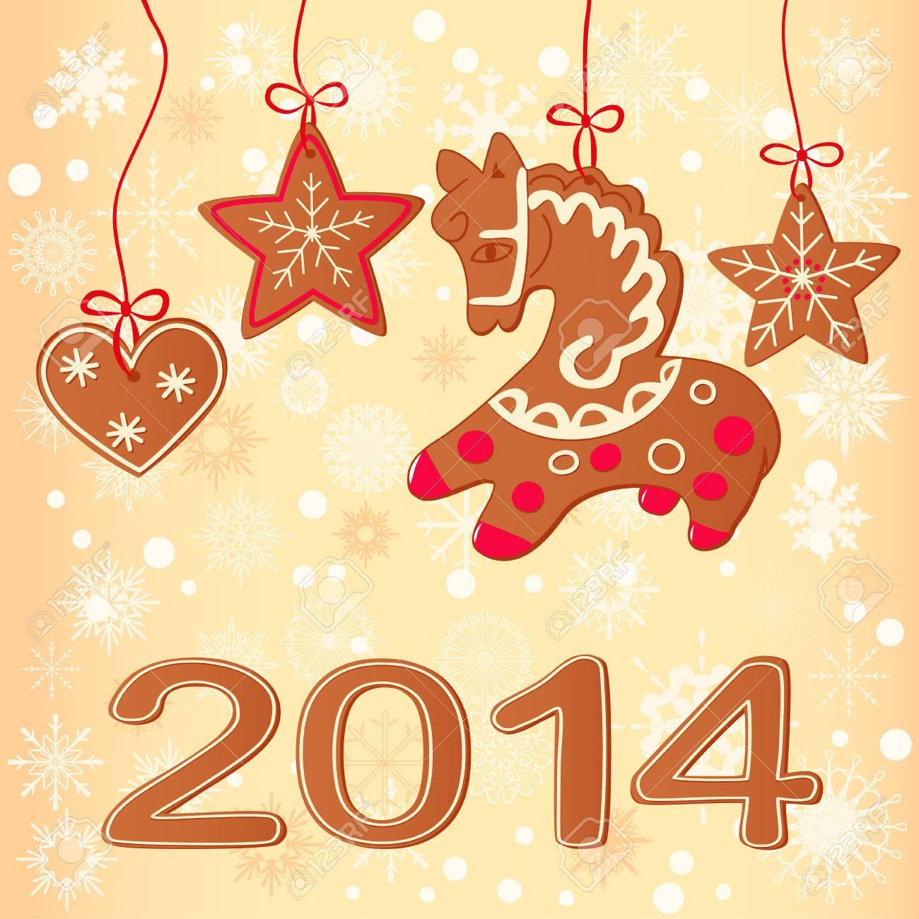 Merry christmas greeting card design christmas cookies royalty free merry christmas greeting card design christmas cookies stock vector 22242609 m4hsunfo