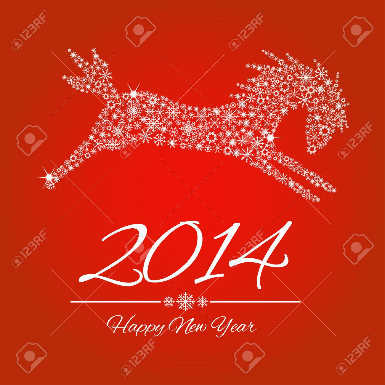 New Year symbol of horse - vector, Illustration. Stock Vector - 22378540