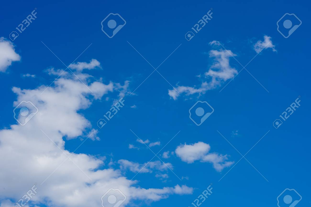 blue sky background with clouds. wallpaper. stock photo, picture and