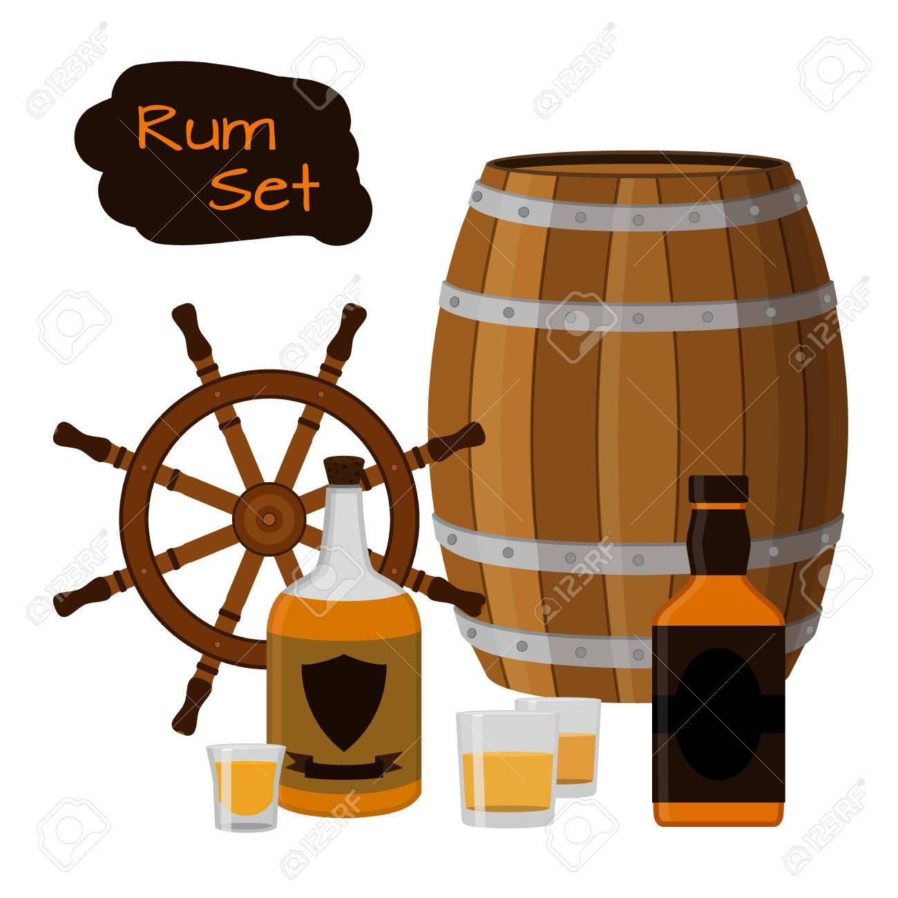 Design Helm rum set drink helm barrel bottles of rum