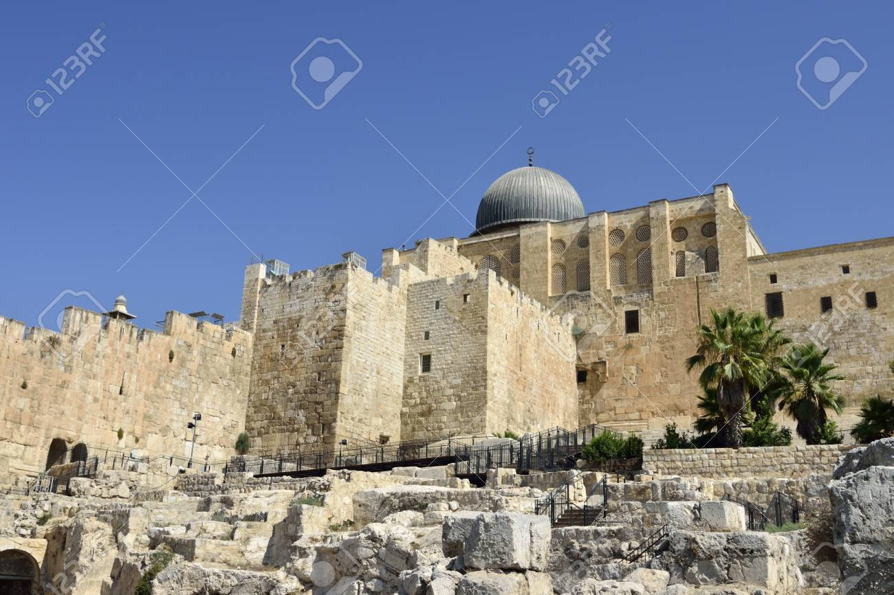Archeological site near Western Wall in Old City of Jerusalem, Israel Stock Photo - 16294011