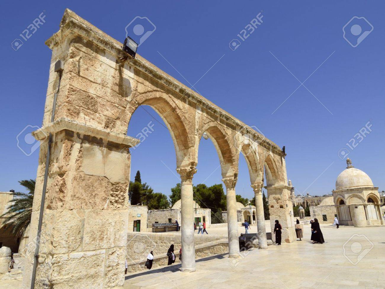 Old colonnade of Temple Mount entry, Jerusalem  Stock Photo - 16286818