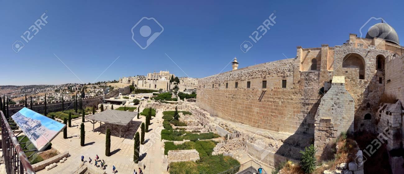 Panoramic view near Old City of Jerusalem, Israel. Stock Photo - 16507136