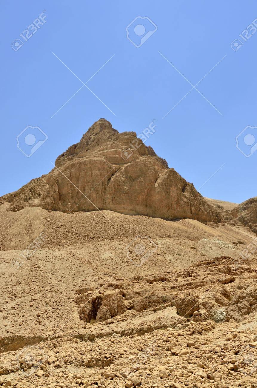 Scenic view of Masada stronghold near Dead Sea, Israel. Stock Photo - 17080806