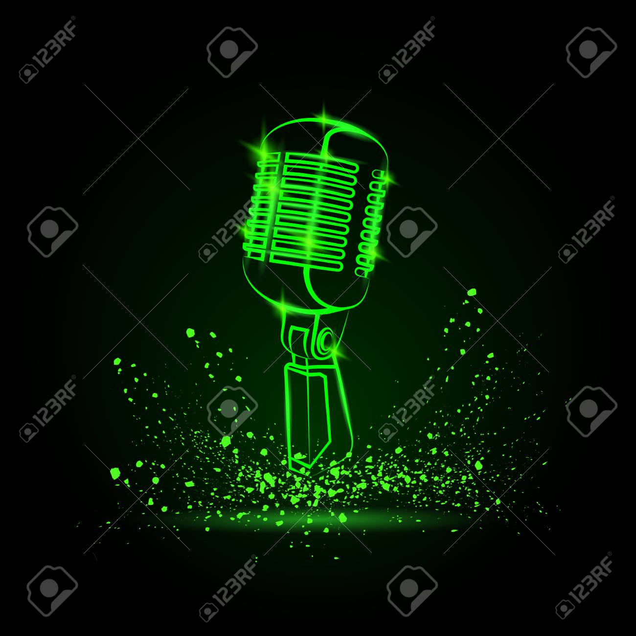 Good Wallpaper Music Disk - 75742361-green-neon-microphone-illustration-on-a-black-background-music-festival-background-for-flyer-banner-  Picture_569312.jpg