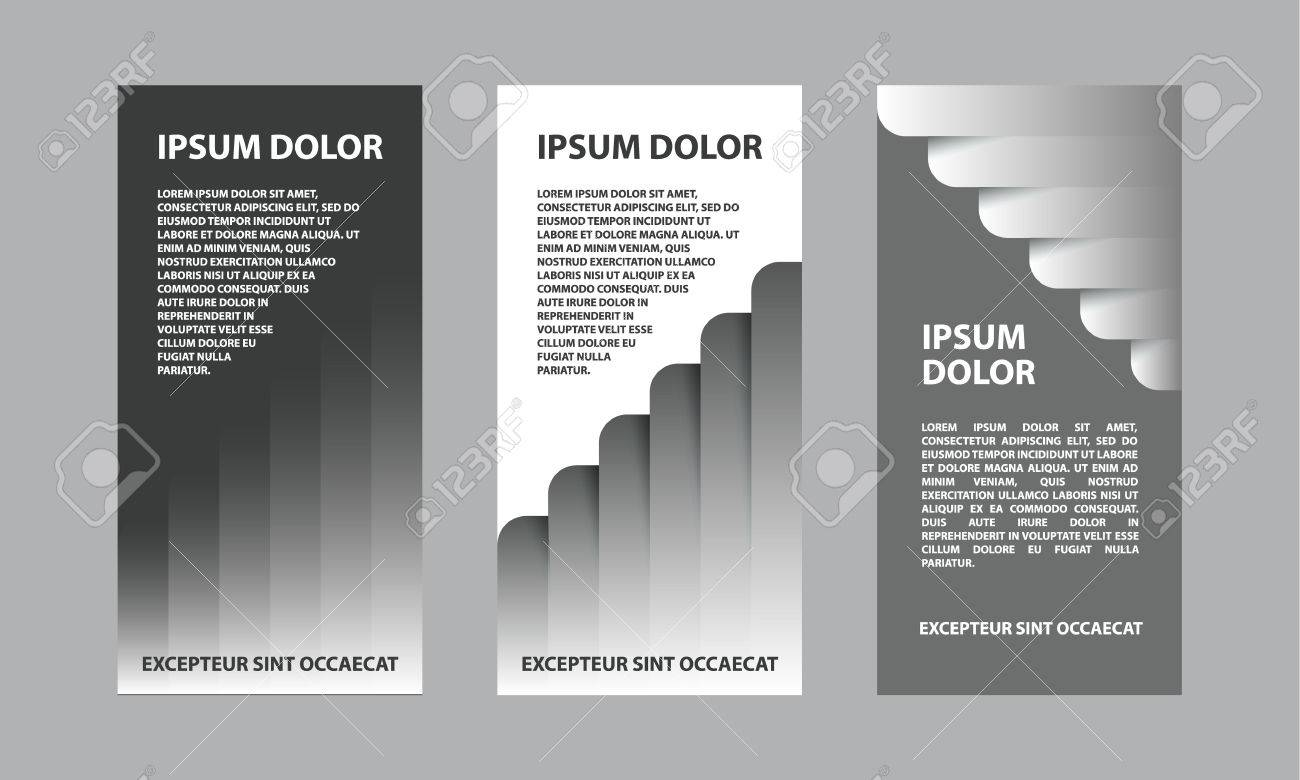 gray abstract business template for flyer brochure presentation