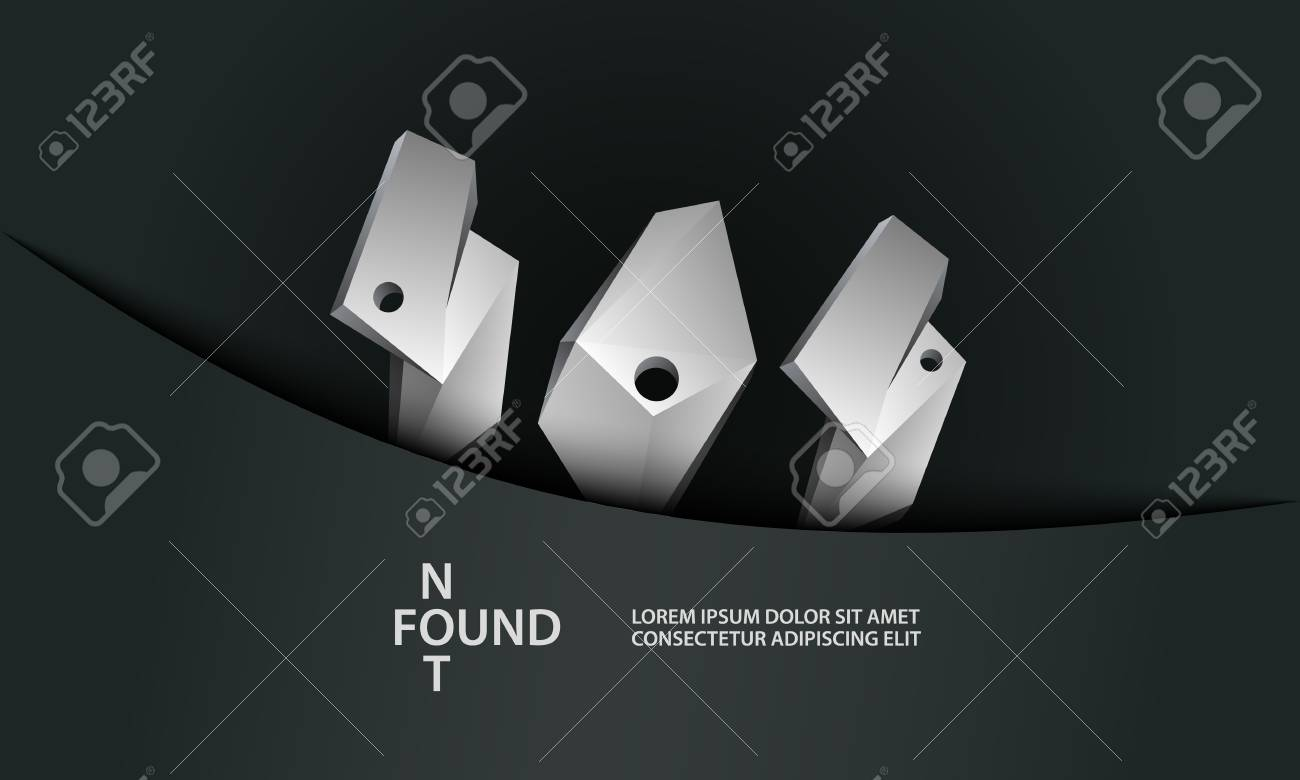 Error 404 Page Template. Page Not Found With Polygonal Abstract ...