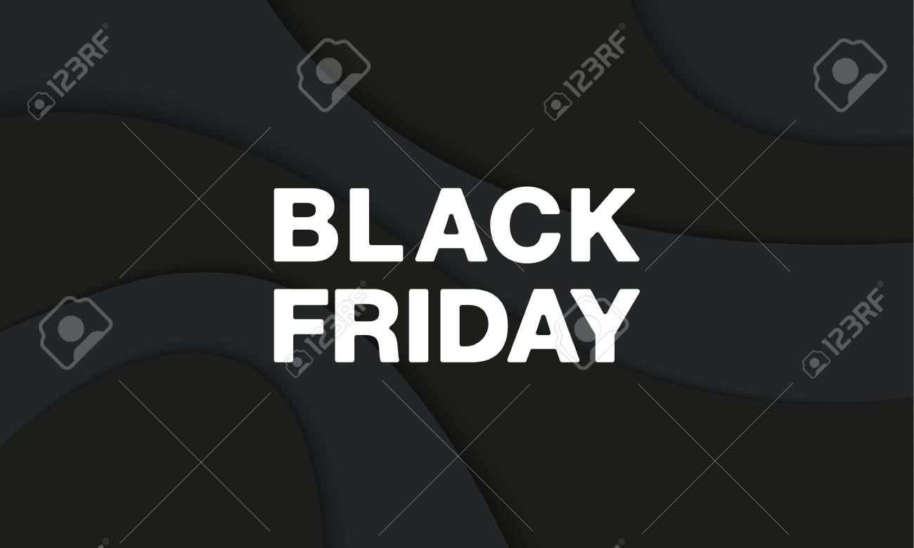 black friday banner template black friday white letters on black