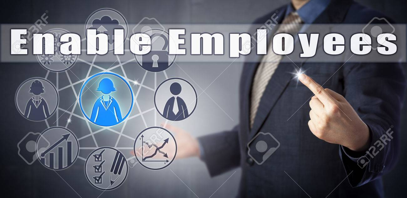 Male Human Resources Advisor Is Recommending To Enable Employees Stock Photo Picture And Royalty Free Image Image 75628449
