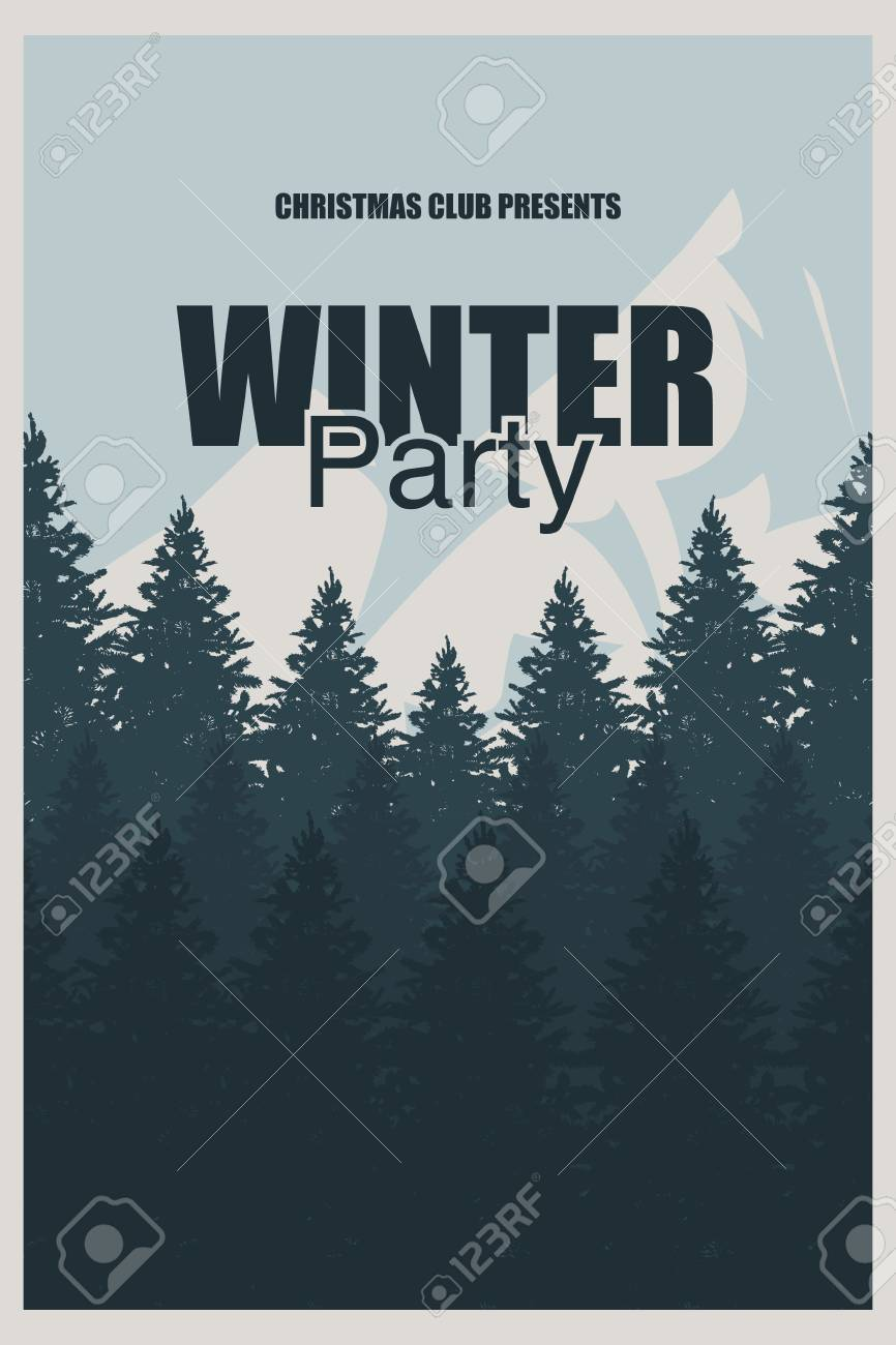 winter party flyer template an elegant christmas invitation