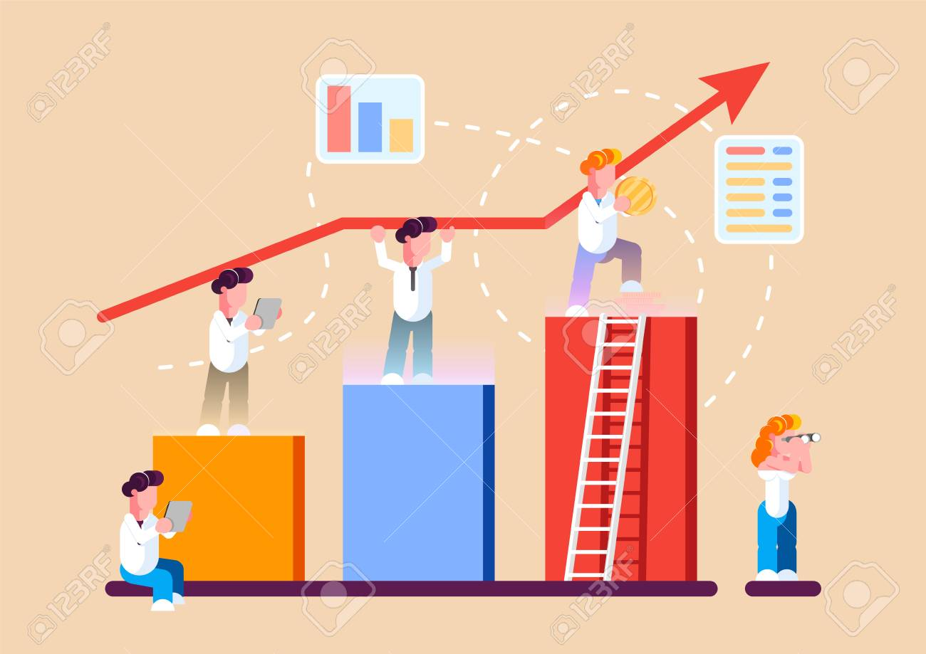 strategy of long term planning vector illustration. businessman.. royalty  free cliparts, vectors, and stock illustration. image 118971350.  123rf