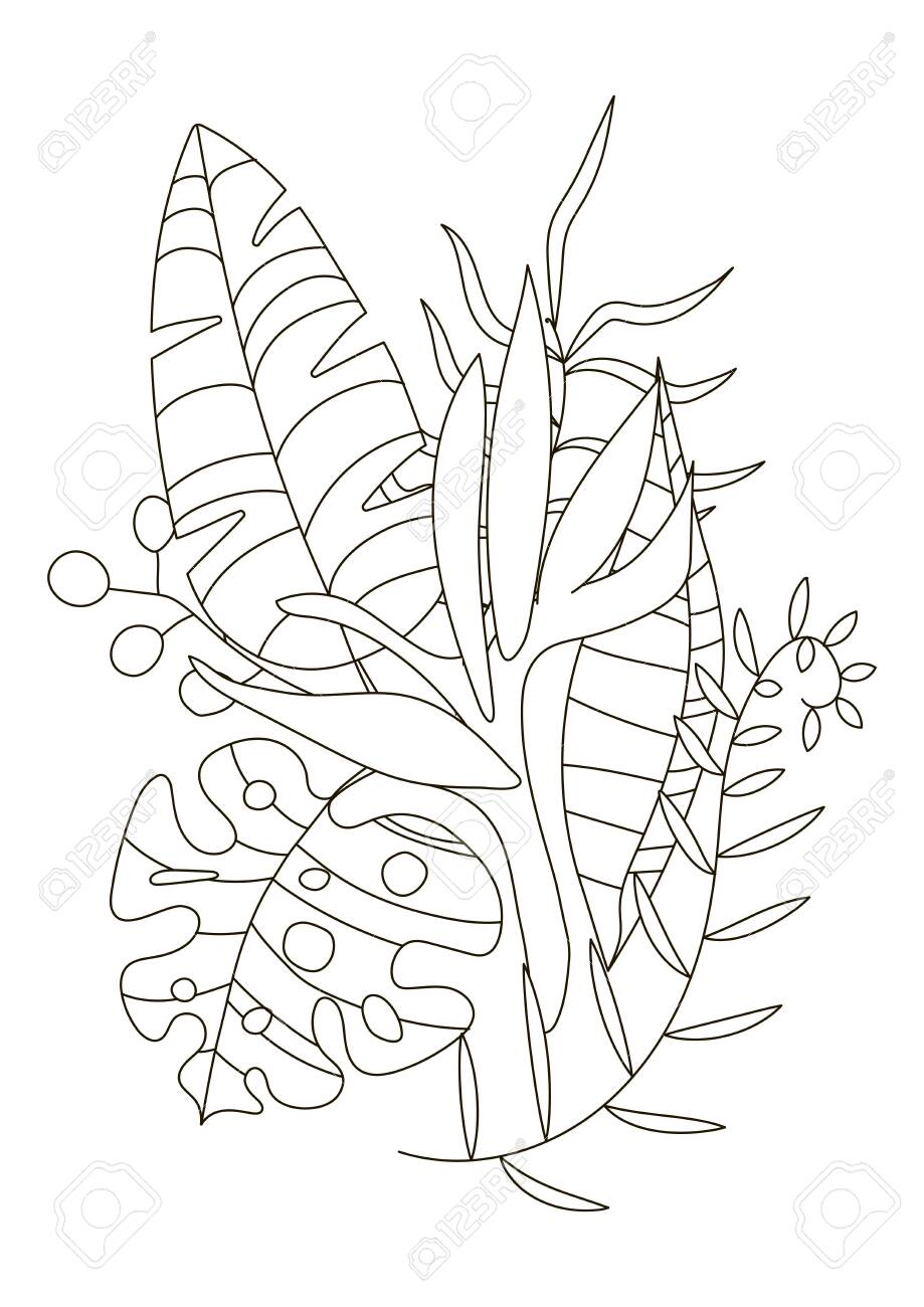 Hand Drawing Coloring Pages For Children And Adults Linear Style Royalty Free Cliparts Vectors And Stock Illustration Image 138296148