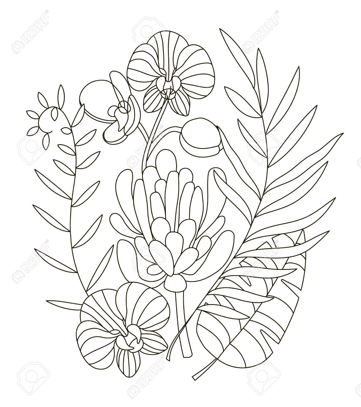 Hand Drawing Coloring Pages For Children And Adults Linear Style Royalty Free Cliparts Vectors And Stock Illustration Image 138297907 Select from 32066 printable crafts of cartoons, nature, animals, bible and many more. hand drawing coloring pages for children and adults linear style
