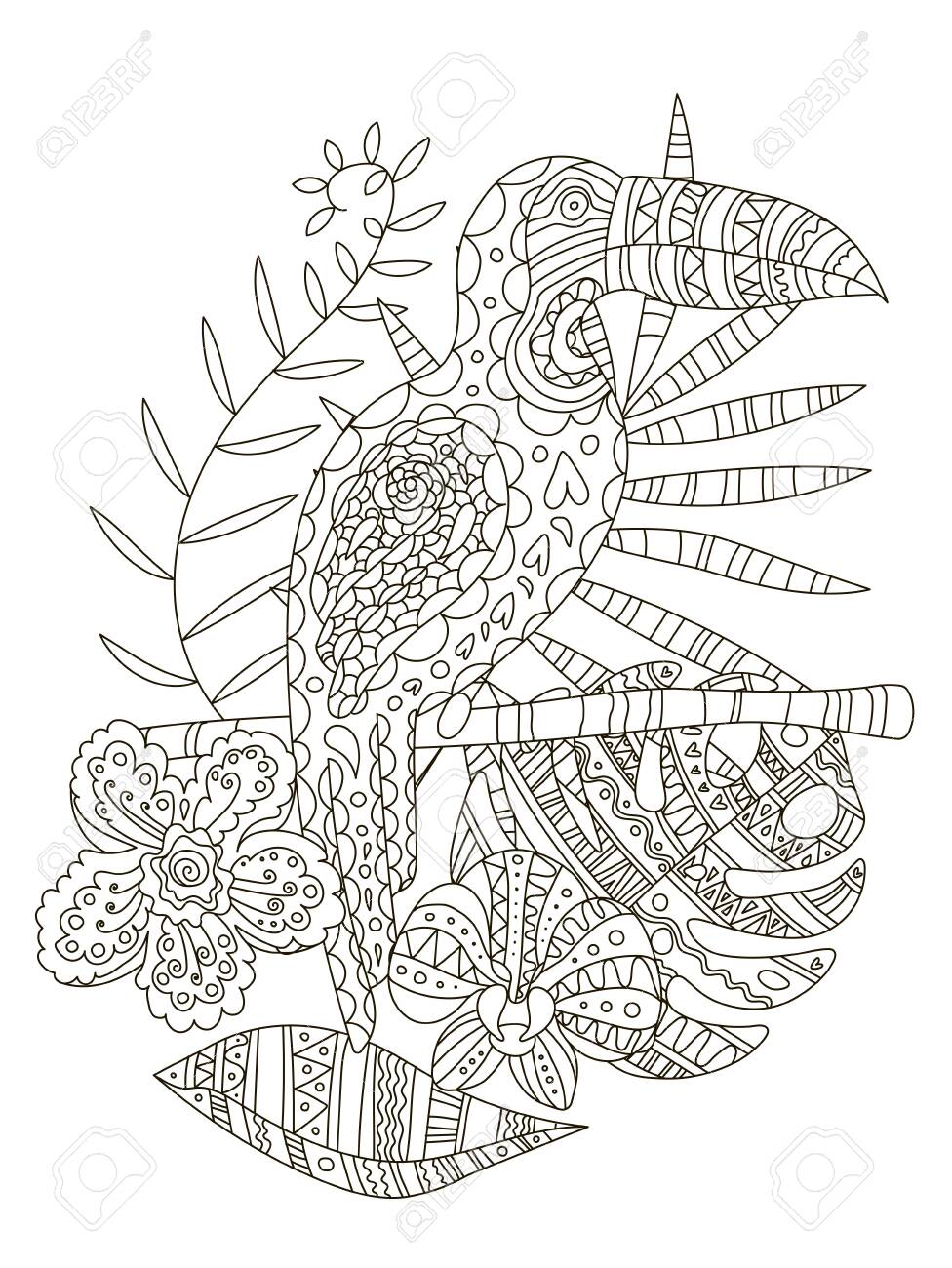 coloring pages : Flower Drawing Colour New Floral Tattoo Design ... | 1300x976