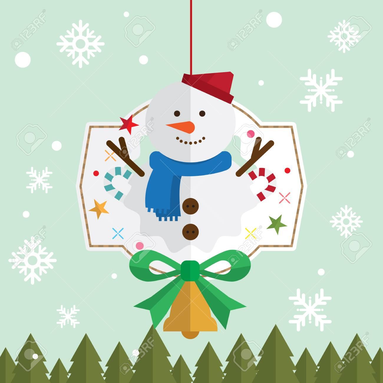 クリスマス雪男雪装飾ベクトルのイラスト素材ベクタ Image 66249197