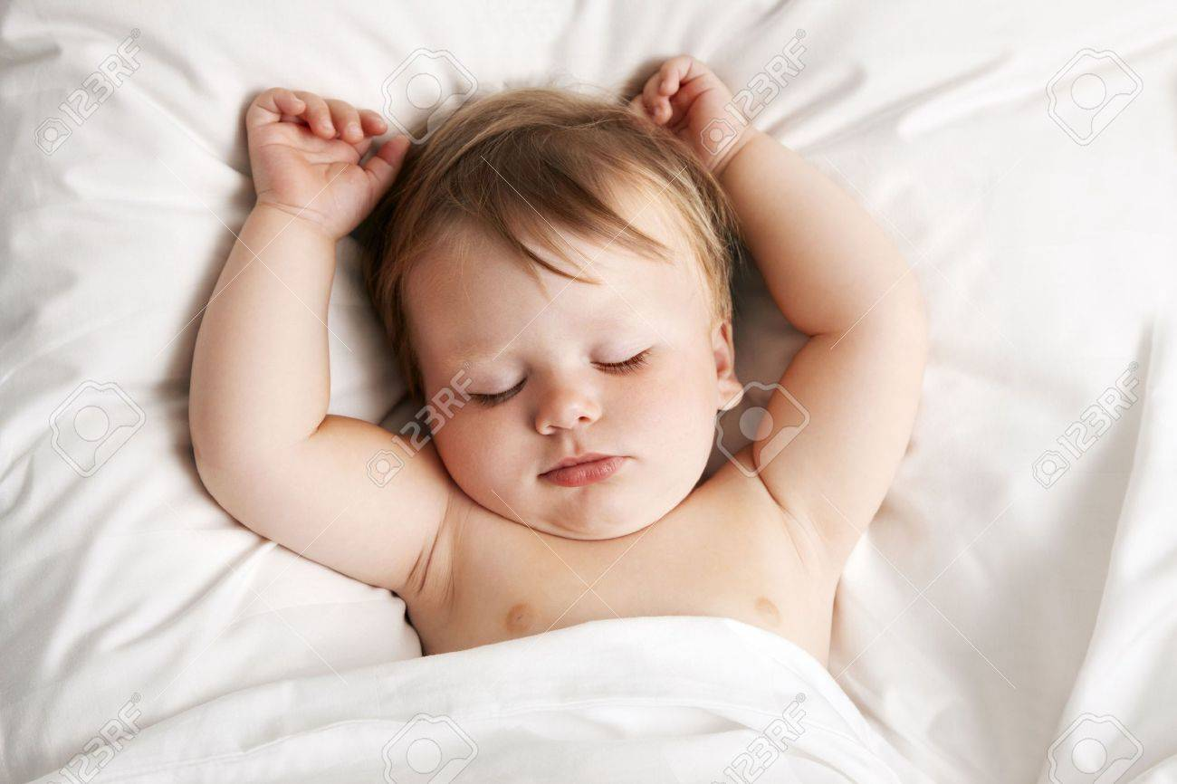 Baby sleeping in bed  baby  Sleeping