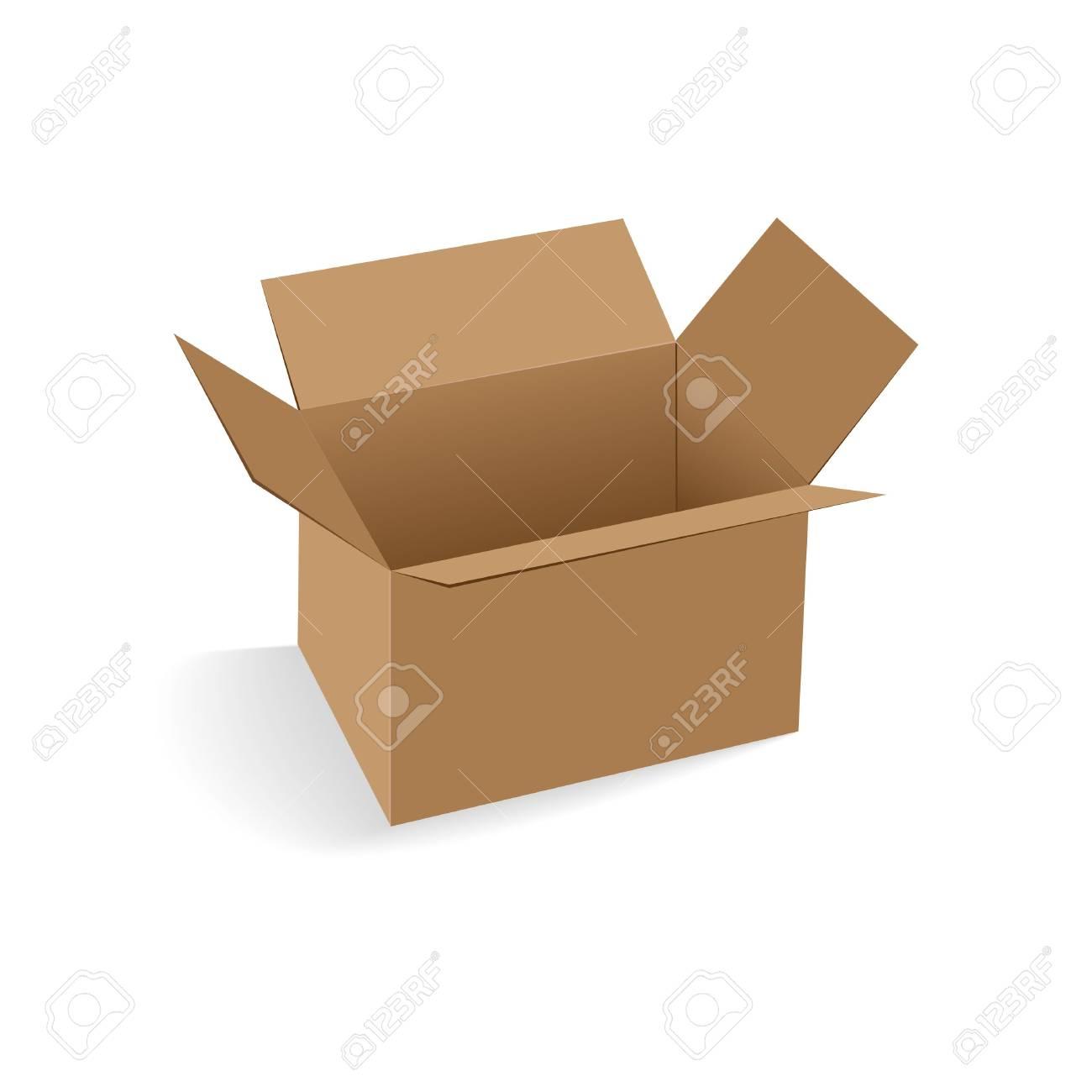 open empty cardboard box vector illustration Stock Vector - 14485876
