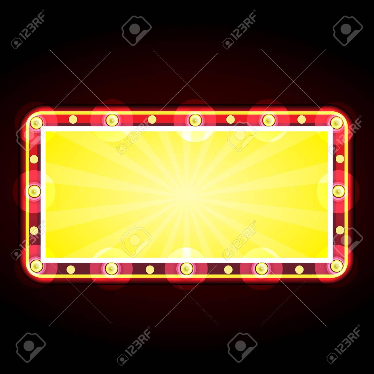 neon sign advertising announcement Stock Vector - 25867448