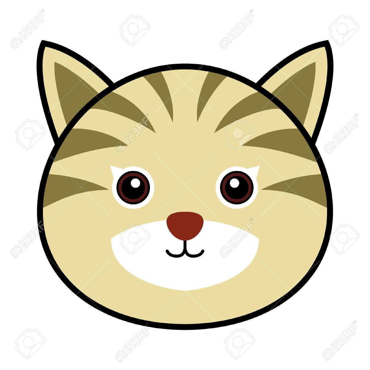 cute cat royalty free cliparts vectors and stock illustration rh 123rf com cat face clipart outline cat face clipart black and white free