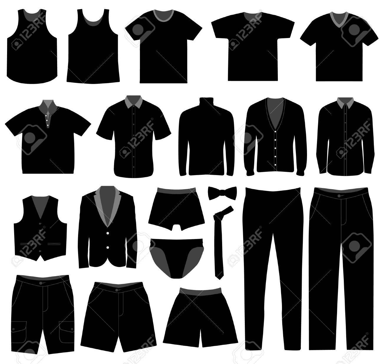 f04e30fa97b Men Man Male Apparel Shirt Cloth Wear Stock Vector - 7796693