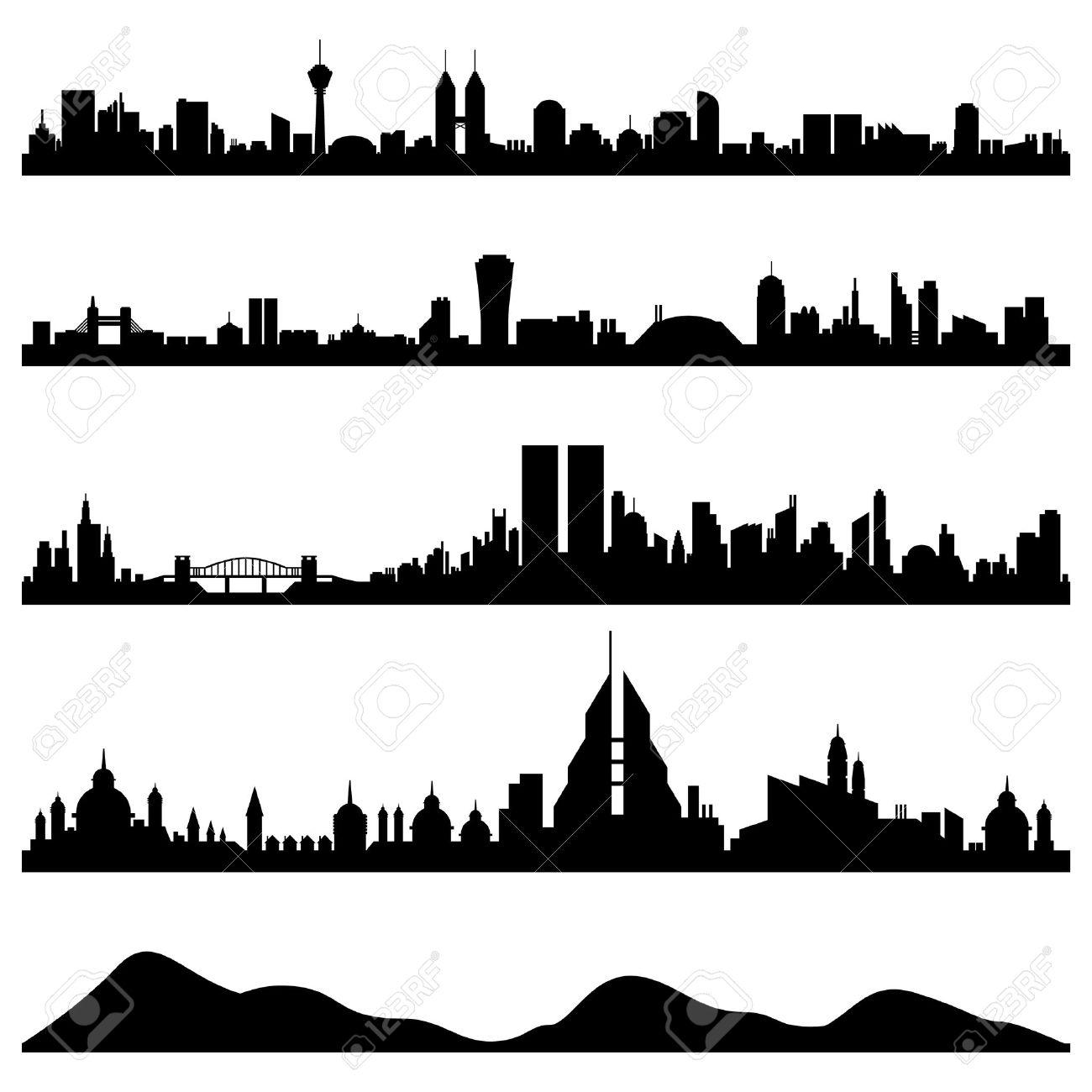 City Skyline Cityscape Vector Stock Vector - 7796697