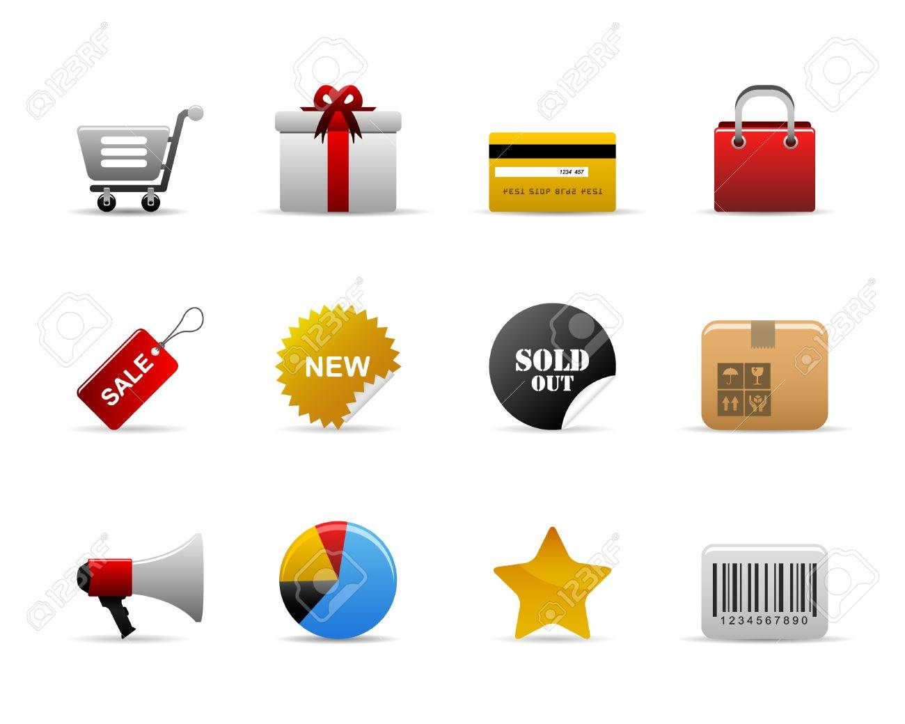 ecommerce Icons Vector Stock Vector - 7796624
