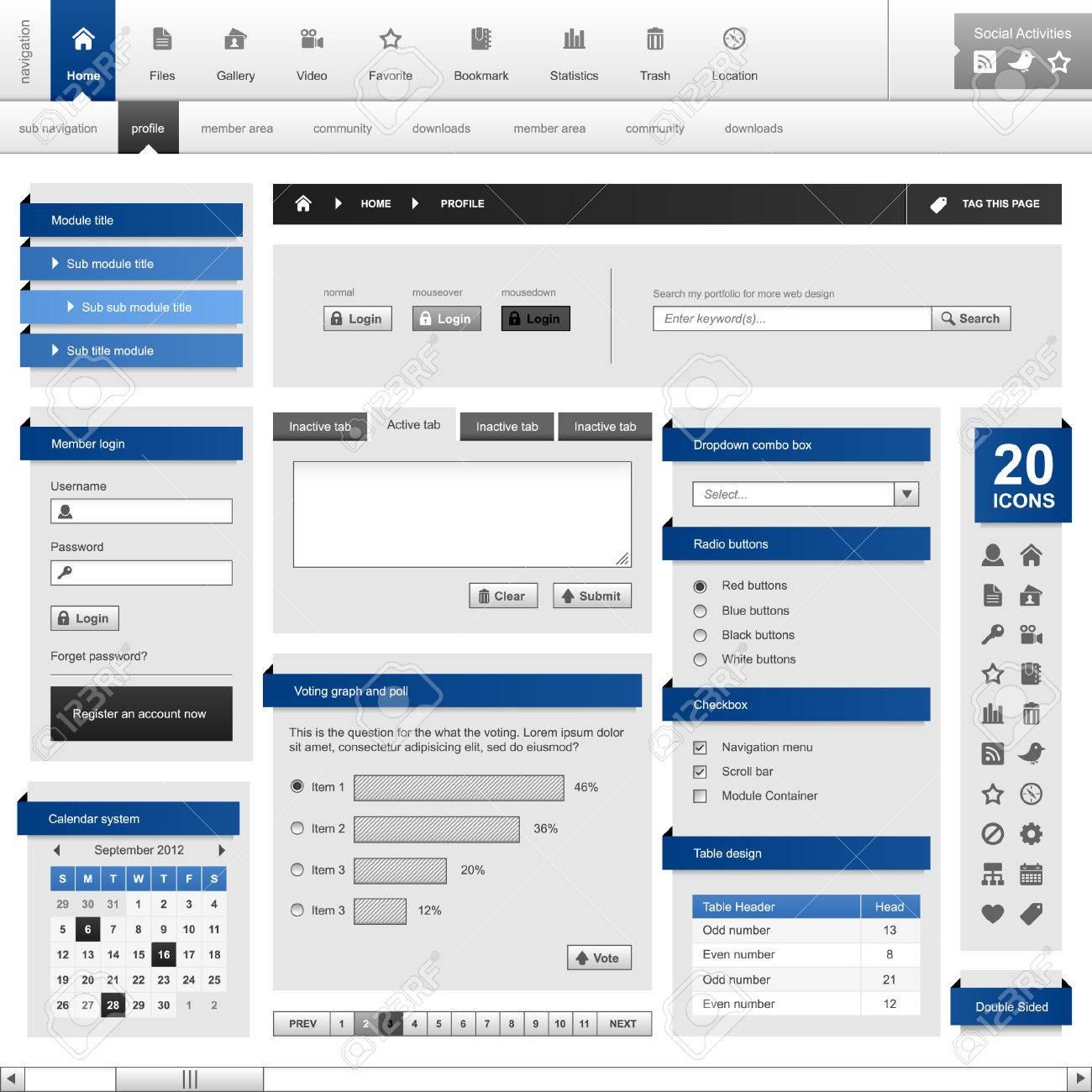 Web Design Element Frame Template Stock Vector - 8509684
