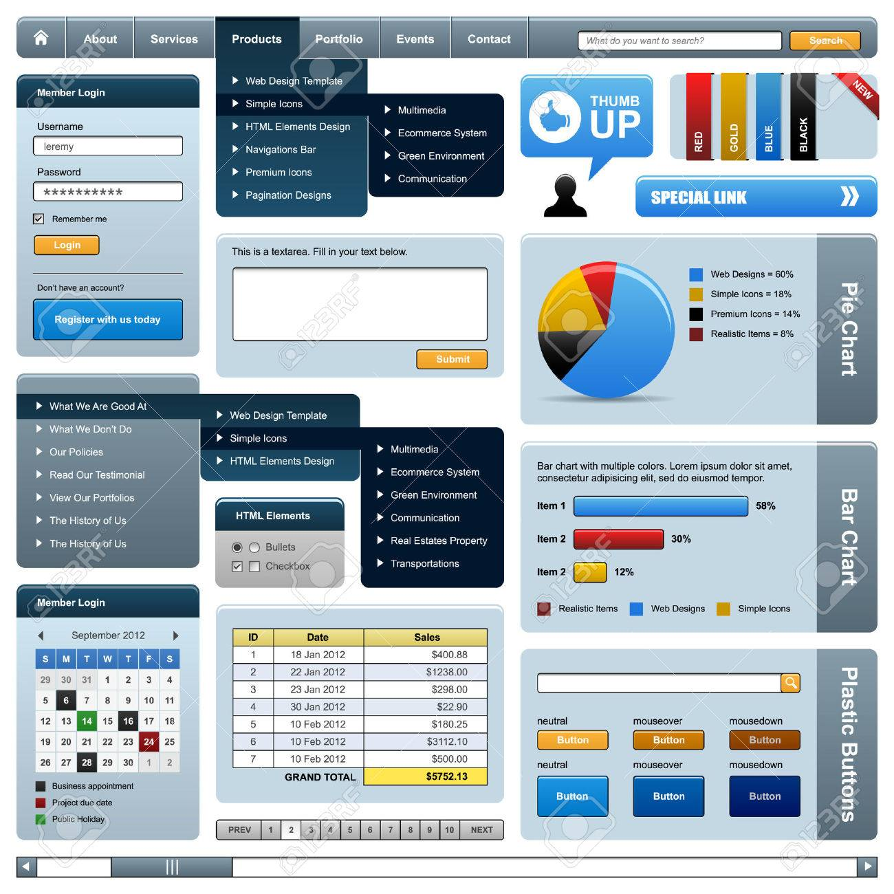 Web Design Element Frame Template Stock Vector - 8509686