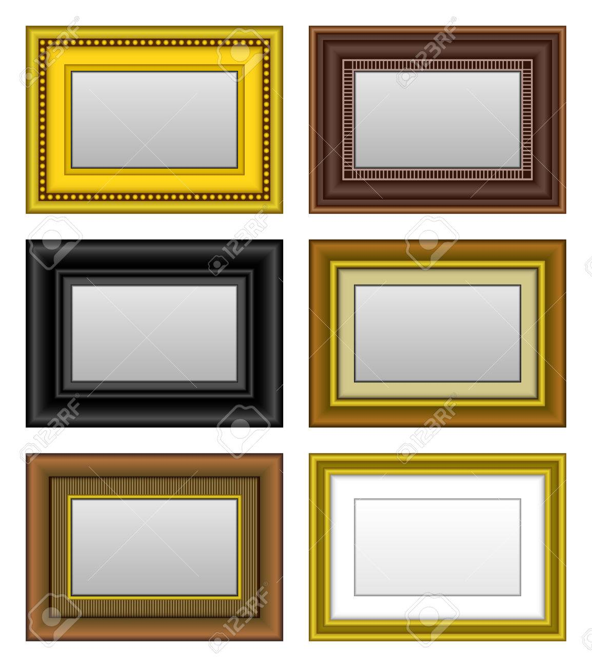 Frame Picture Photo Mirror Stock Vector - 8513522