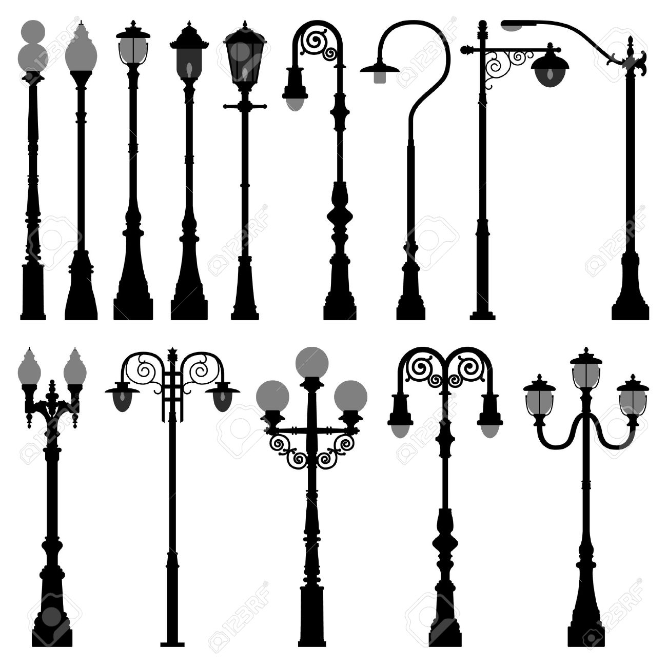 Lamp Post Lamppost Street Road Light Royalty Free Cliparts ... for Indoor Street Light Lamp  51ane