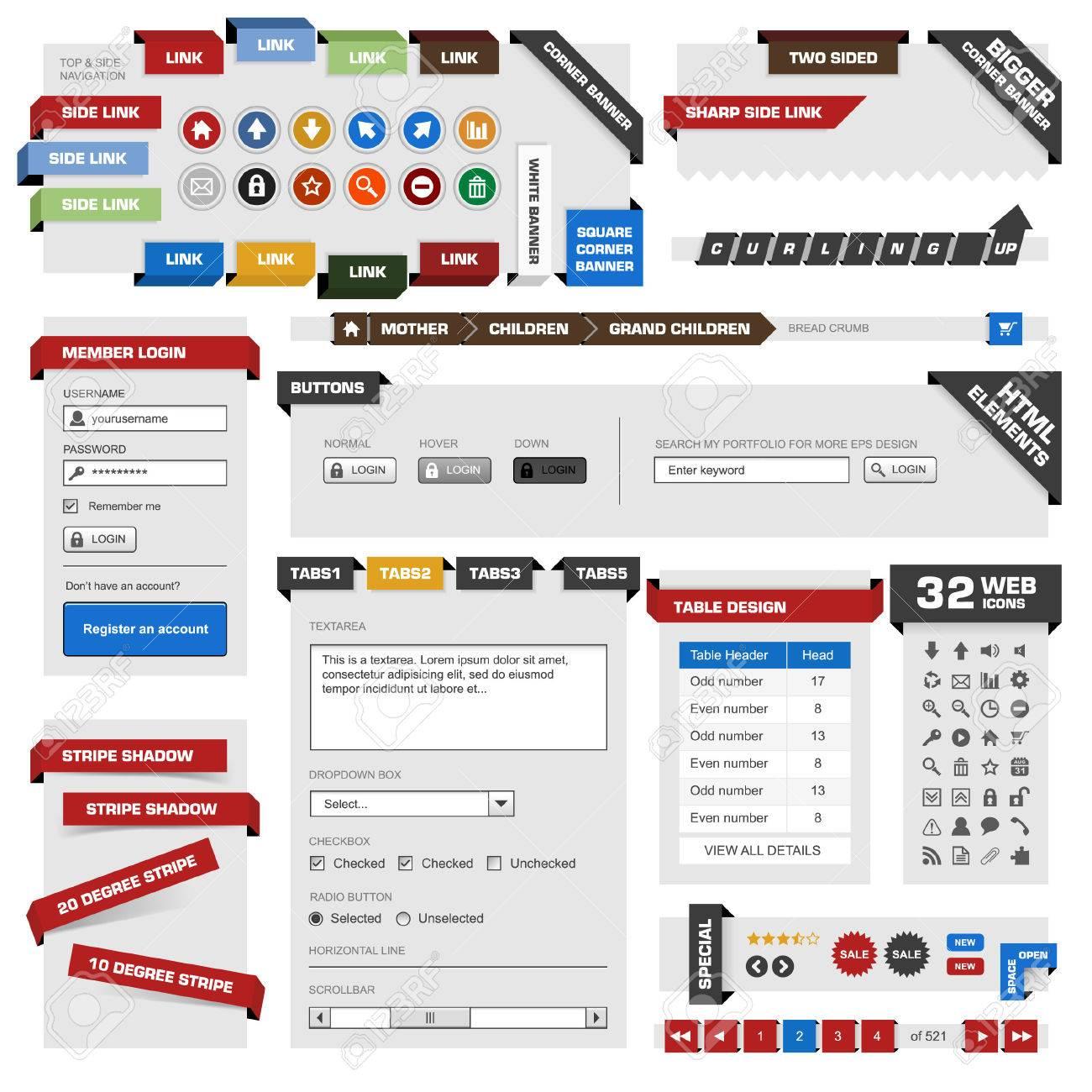 Marco De Diseño De Sitio Web Ilustraciones Vectoriales, Clip Art ...