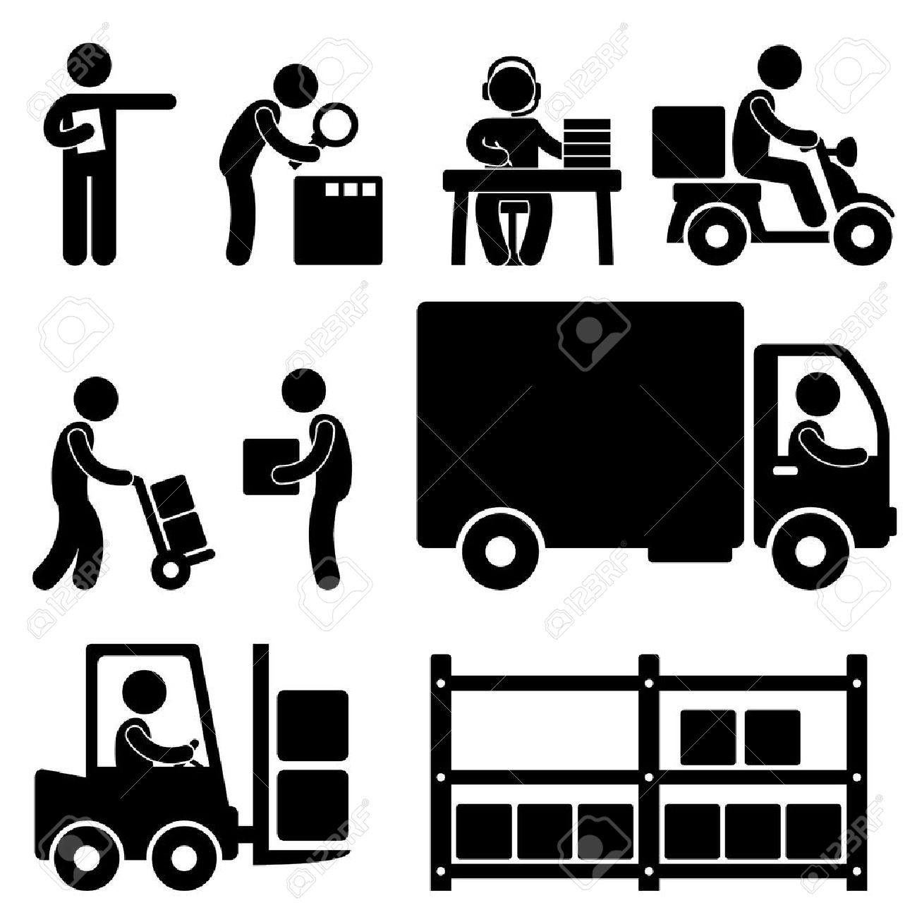 12,802 Delivery Man Cliparts, Stock Vector And Royalty Free ...