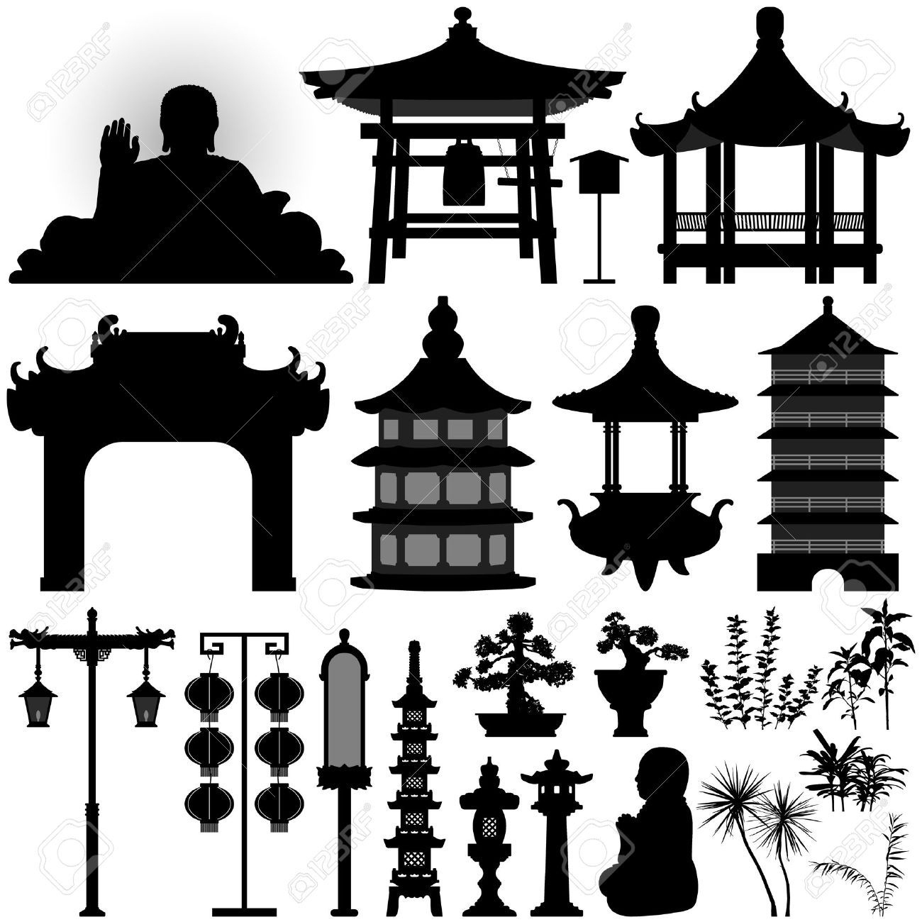 Chinese Asian Temple S...