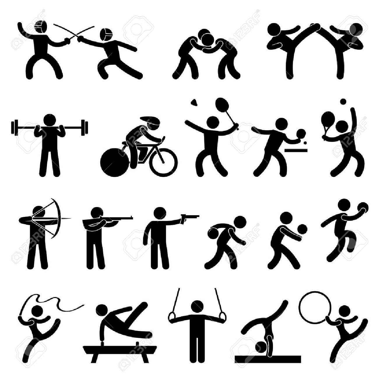 Indoor sport game athletic set icon symbol sign pictogram royalty indoor sport game athletic set icon symbol sign pictogram stock vector 11965748 buycottarizona Choice Image