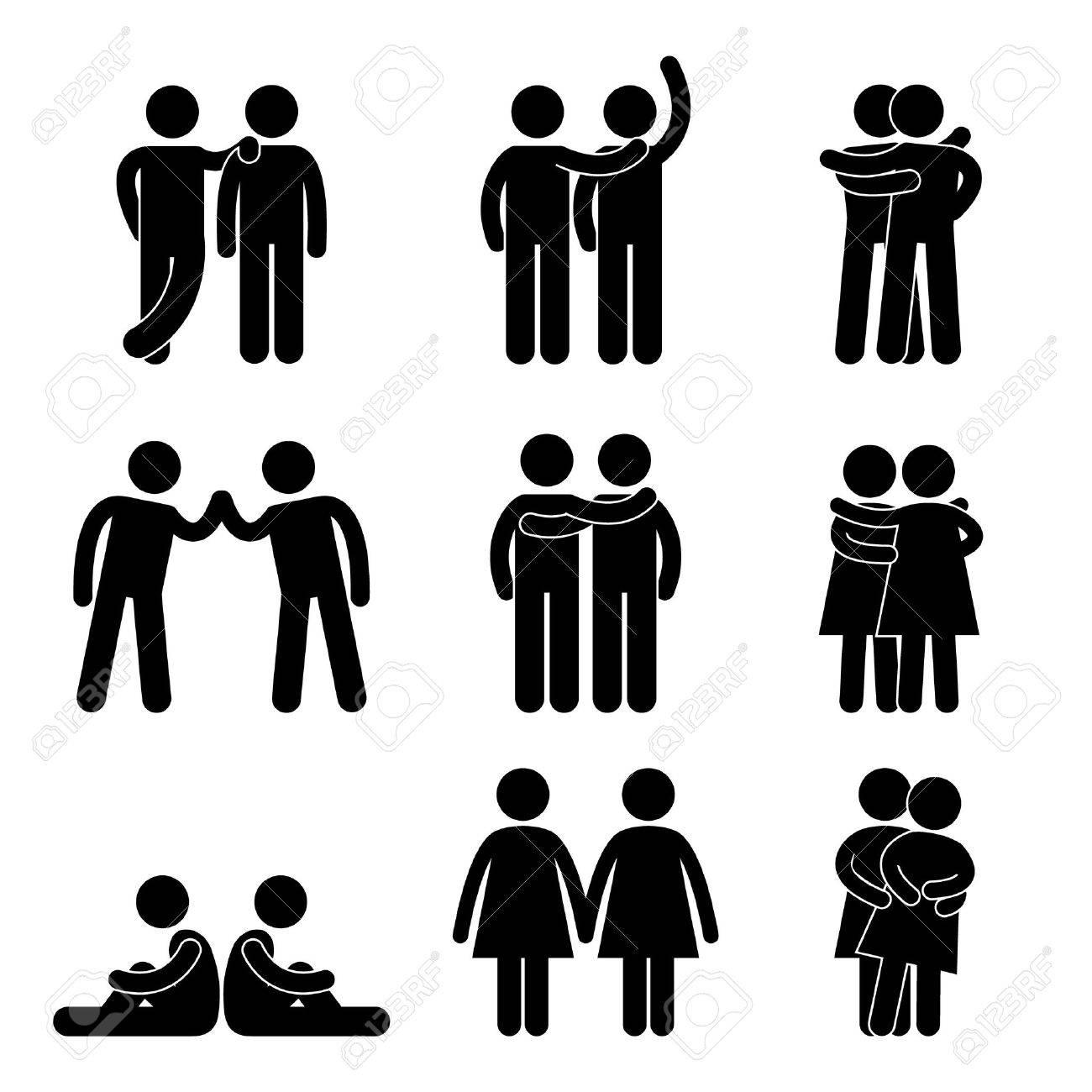 Relationship Icon Symbol Sign Pictogram Standard-Bild - 11965721