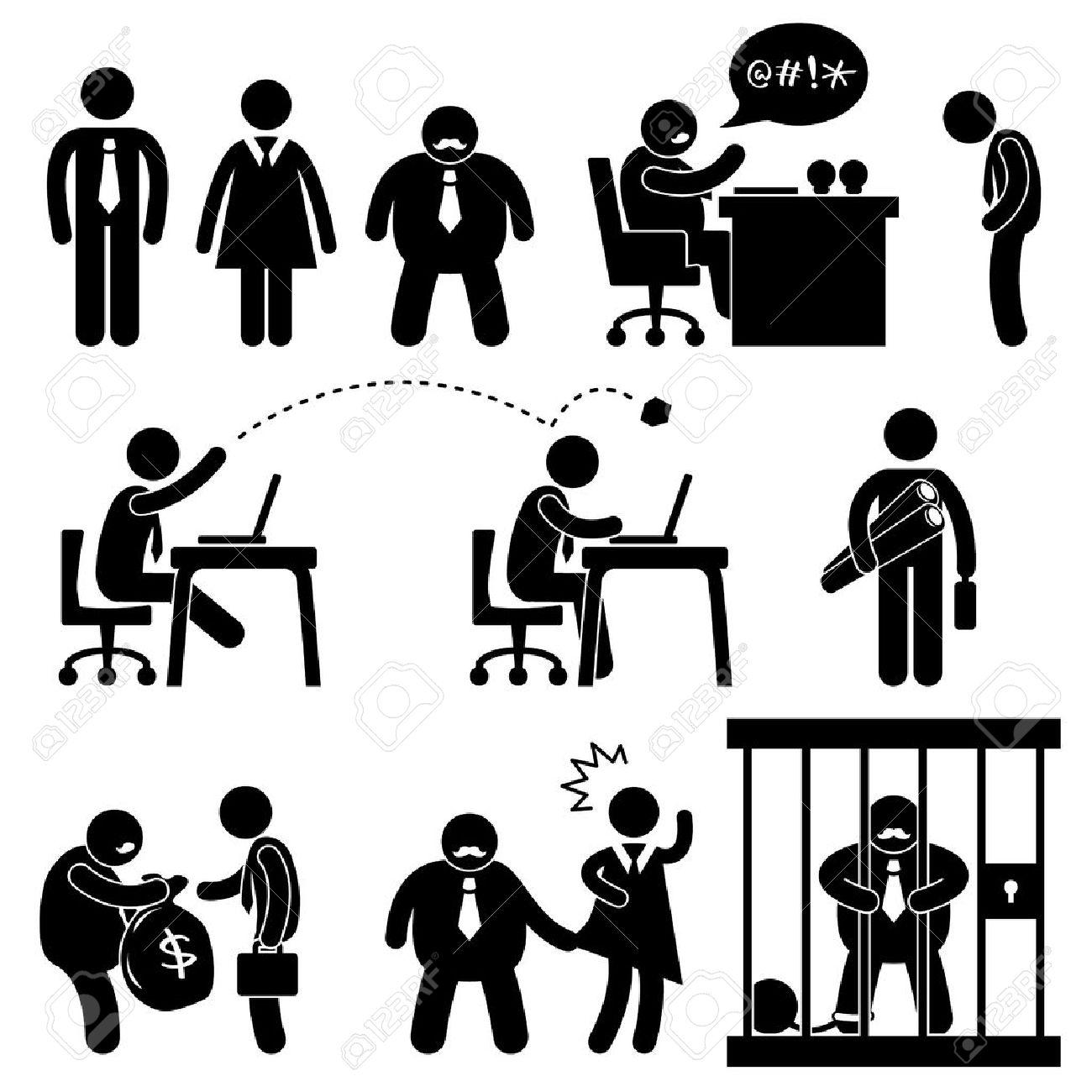 Oficina De Negocios El Lugar De Trabajo Situación Jefe Icon Manager ...