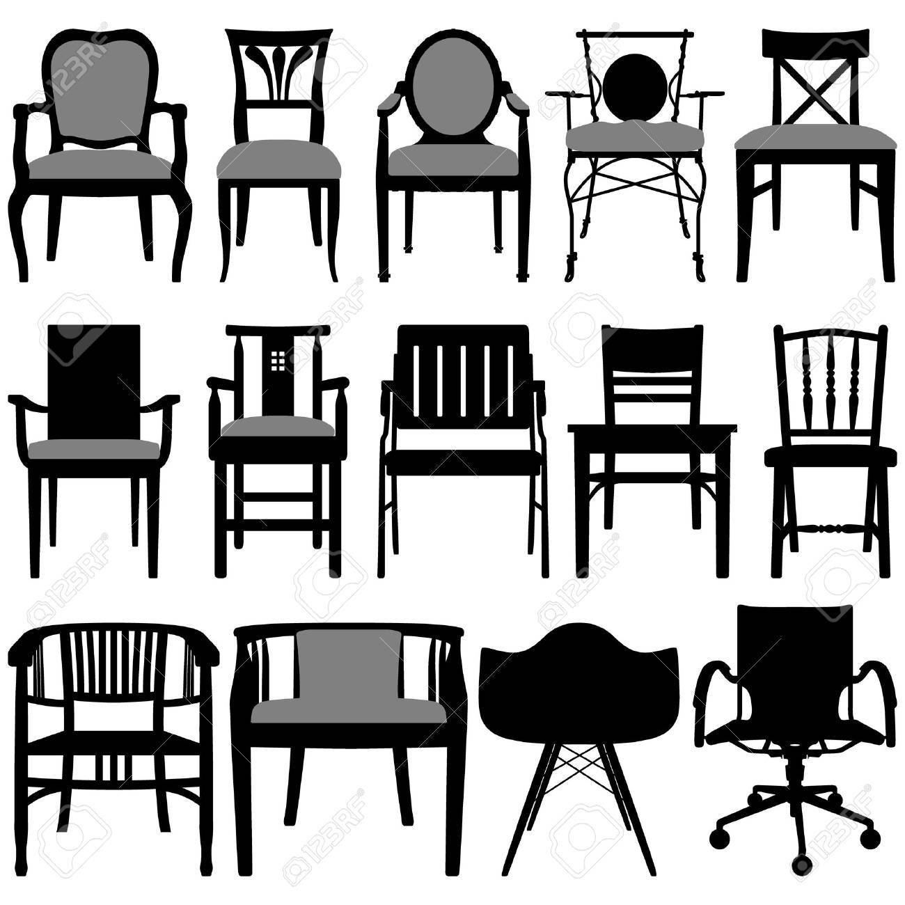 Antique chair silhouette - Chair Design Royalty Free Cliparts Vectors And Stock