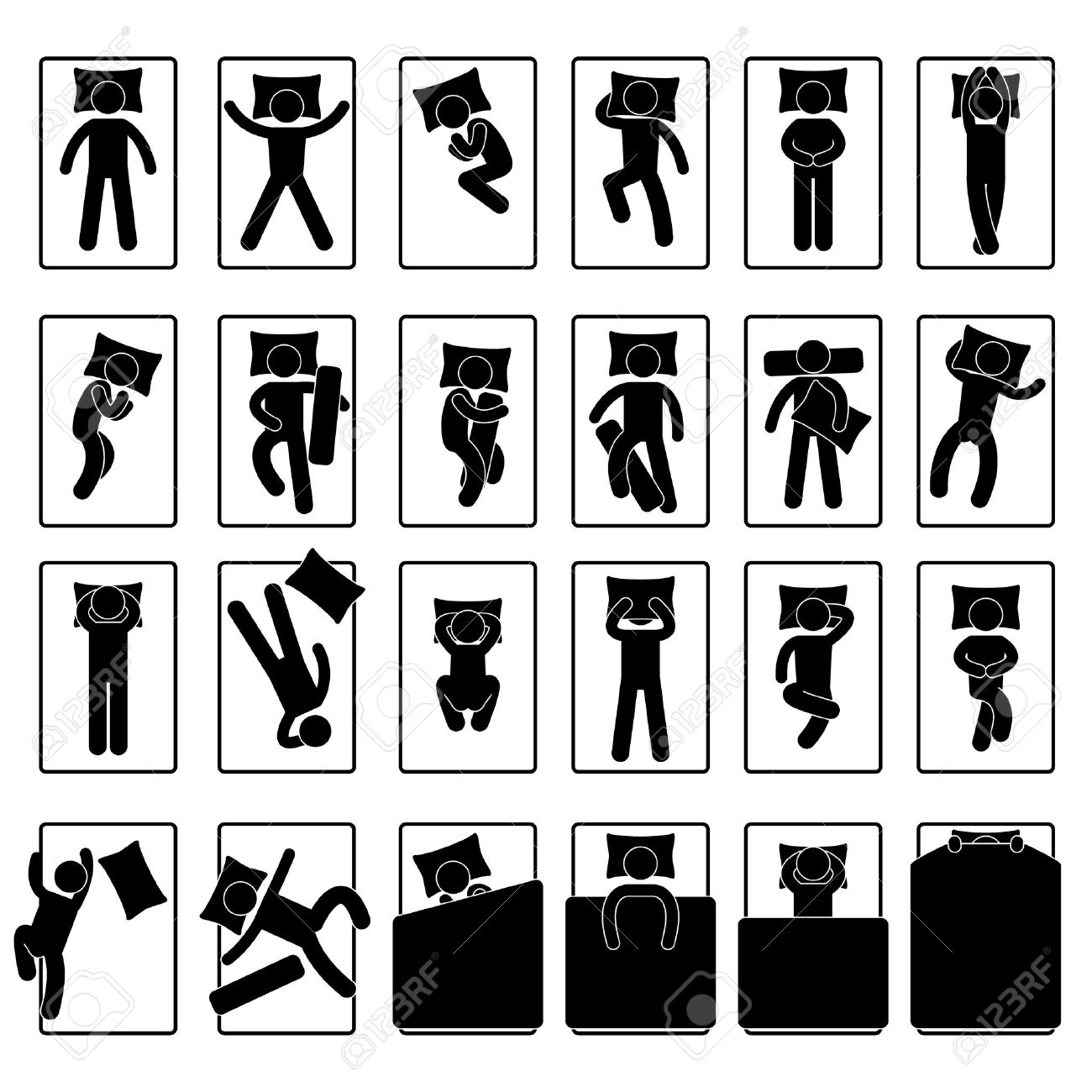 Sleep Sleeping Position Style Posture Method Bed - 12483516
