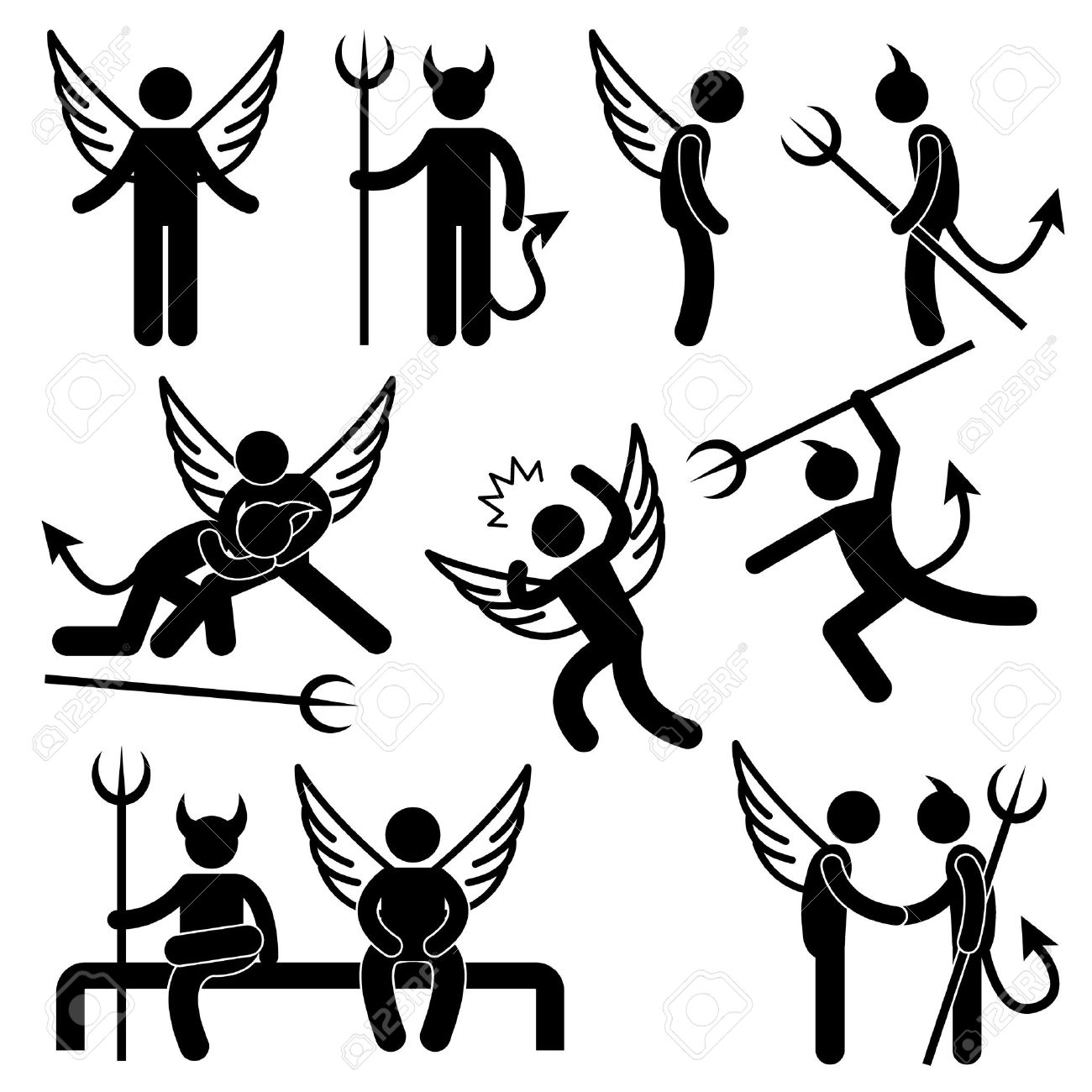 37,866 Devils Stock Vector Illustration And Royalty Free Devils ...