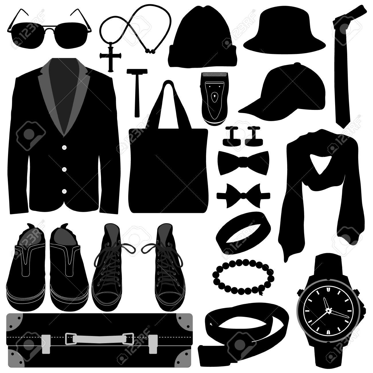 b8e5d306c24 Man Male Clothing Wear Accessories Fashion Design Stock Vector - 14446306