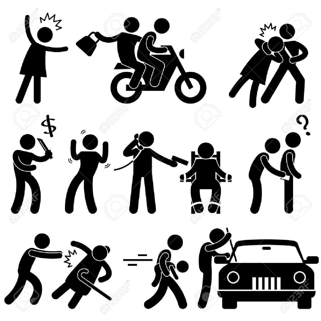 Criminal Robber Burglar Kidnapper Rapist Thief Icon Symbol Sign Pictogram Stock Vector - 15209859