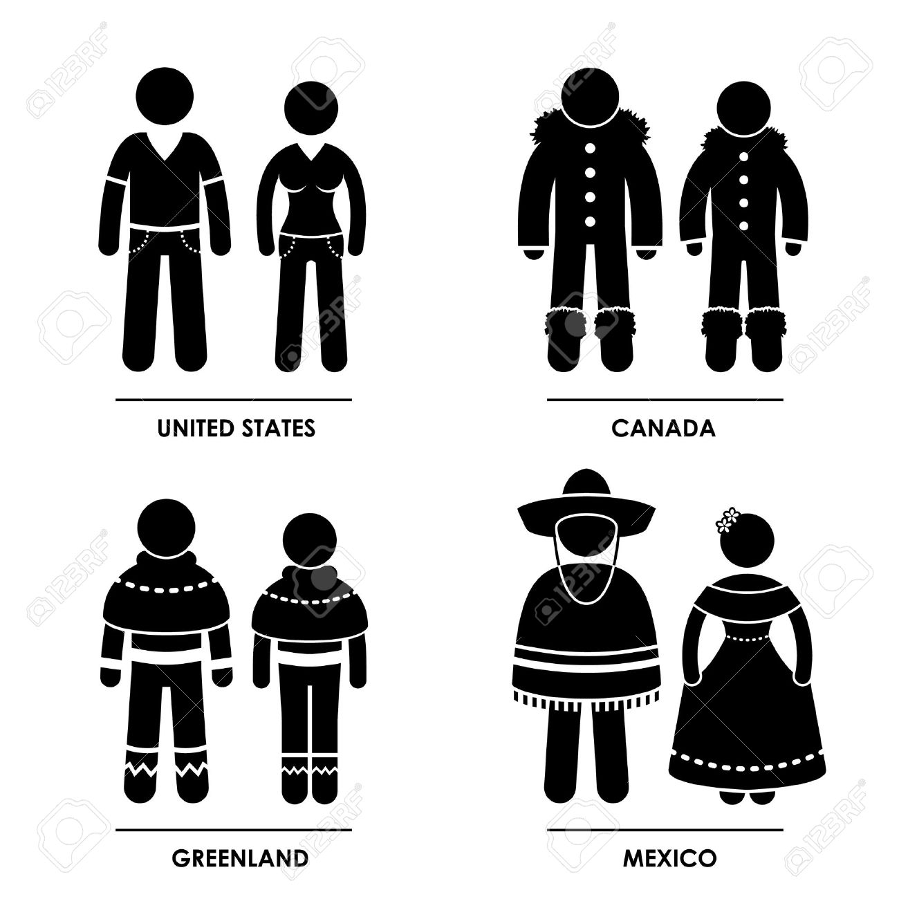 North America United States Canada Greenland Mexico Man Woman - Is united states north america