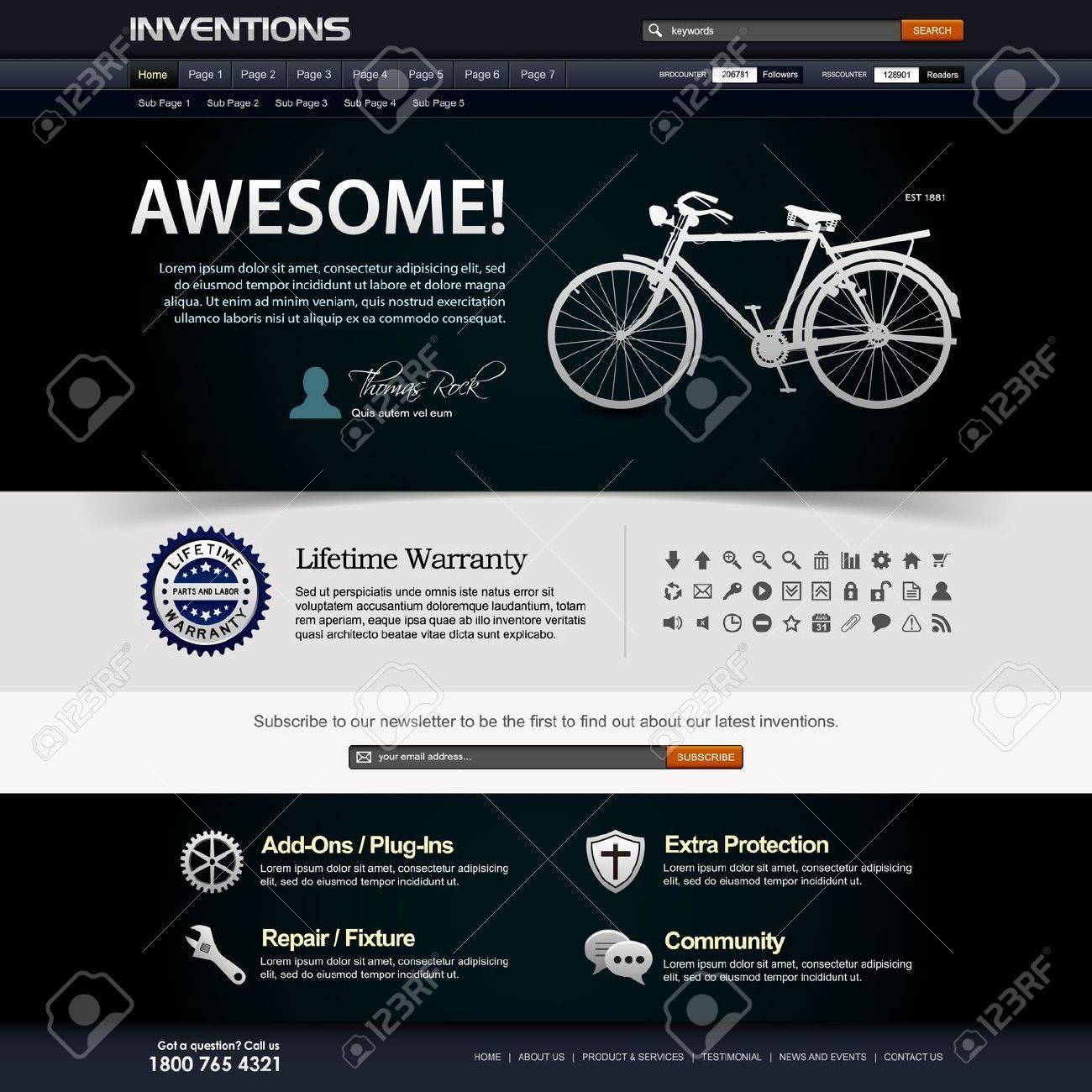 Web Design Website Elements Template Stock Vector - 18812295